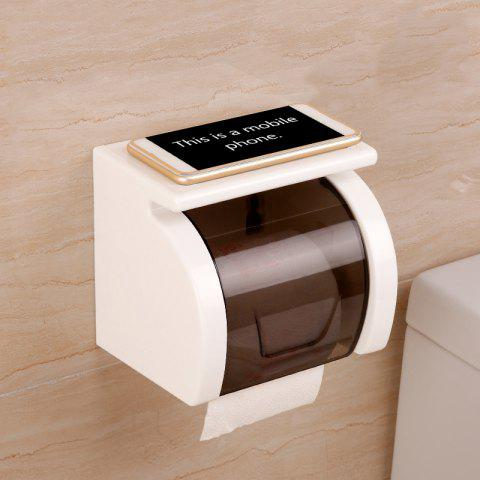 Toilet Transparent Waterproof Seamless Paper Roll Holder - WHITE 15.3X13.1X10.5CM