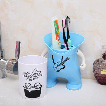 Wash Suit Creative Toothbrush Holder Dust-Resistant Mouth Cup Variety Shape - WINDSOR BLUE 12X12X20.2CM