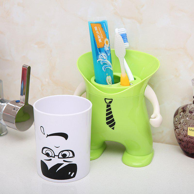 Wash Suit Creative Toothbrush Holder Dust-Resistant Mouth Cup Variety Shape - GREEN 12X12X20.2CM