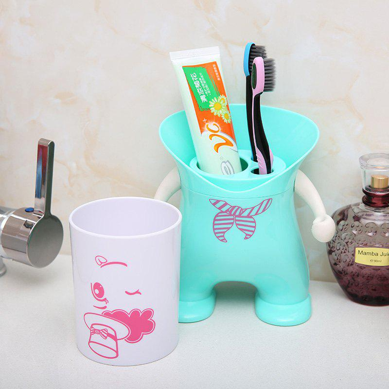 Wash Suit Creative Toothbrush Holder Dust-Resistant Mouth Cup Variety Shape - BLUE 12X12X20.2CM