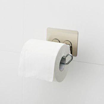 No Trace of Magic Hanging Roll Holder Bathroom Punch-Free - GRAY 13X10X7.5CM