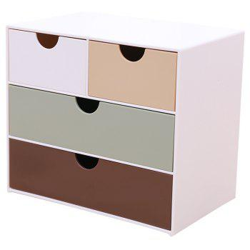 Creative Multi-purpose Simple Desktop Jewelry Storage Box Drawer - COLORMIX 17X11X15CM