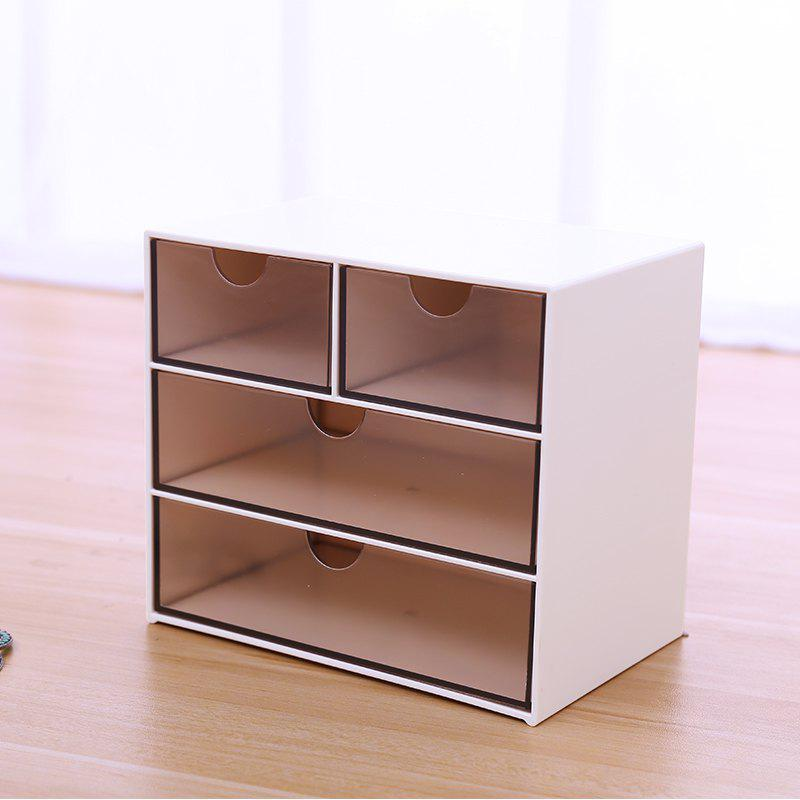Creative Multi-purpose Simple Desktop Jewelry Storage Box Drawer - BROWN 17X11X15CM