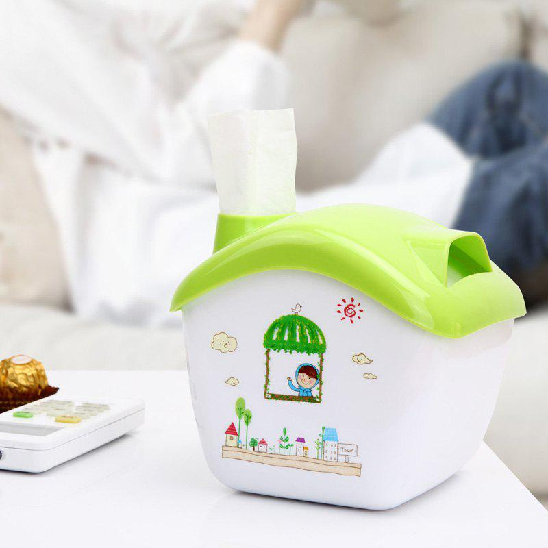 Creative Candy House Tissue Box Can Do The Storage Box Phone Holder - GREEN 14.5X13.5X12.3CM