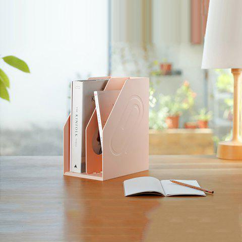 Modern Minimalist Desktop Small Shelves Multifunctional A4 File Magazine Storage Basket - PINK 16X24X30CM