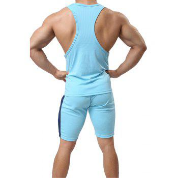 Men's Sport Suit  Breathable Quick-Drying Sportswear - WINDSOR BLUE XL