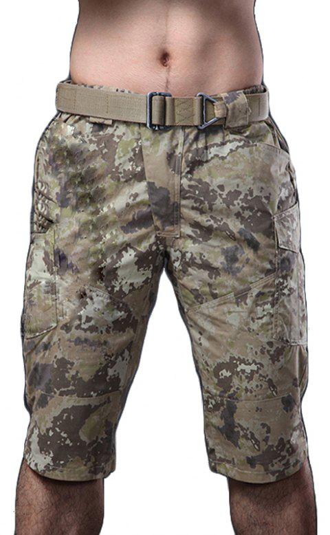 Summer New Mountaineering Jungle Combat Shorts Camouflage Outdoor Casual Pants - TERRAIN CAMOUFLAGE XL