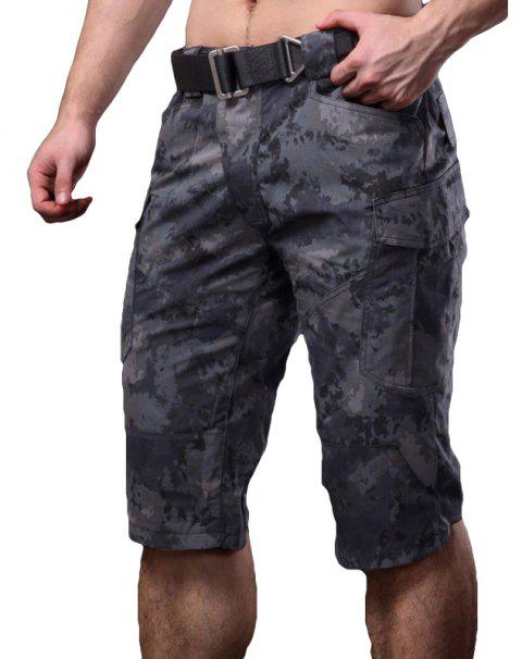 Summer New Mountaineering Jungle Combat Shorts Camouflage Outdoor Casual Pants - PYTHON MUTE BLACK XL