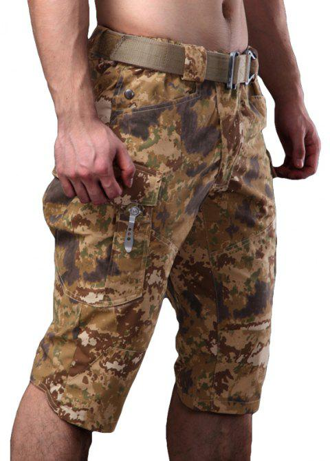 Summer New Mountaineering Jungle Combat Shorts camouflage pantalons décontractés en plein air - Camouflage du désert XL