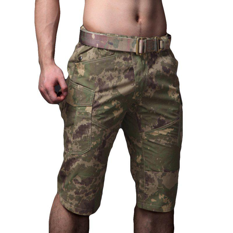 Summer New Mountaineering Jungle Combat Shorts camouflage pantalons décontractés en plein air - Jungle Camouflage XL