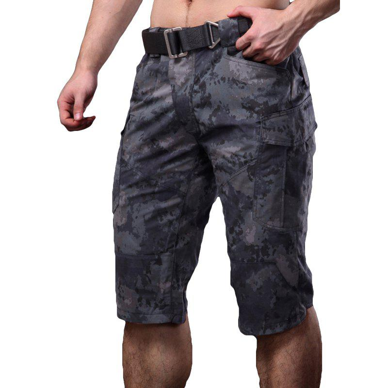 Summer New Mountaineering Jungle Combat Shorts camouflage pantalons décontractés en plein air - Python muet noir M