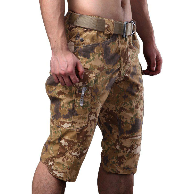 Summer New Mountaineering Jungle Combat Shorts Camouflage Outdoor Casual Pants - DESERT CAMOUFLAGE L