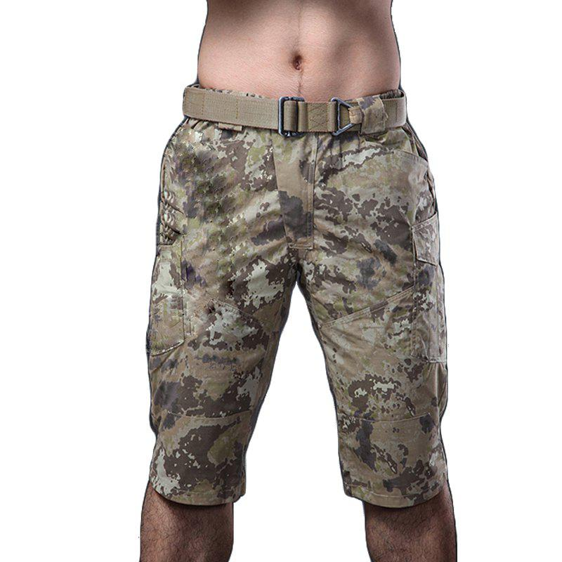 Summer New Mountaineering Jungle Combat Shorts camouflage pantalons décontractés en plein air - Terrain Camouflage XL