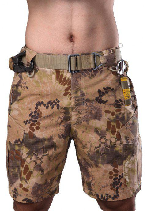 Outdoor Self-Cultivation Breathable Quick-Drying Fishing Sports Camouflage Pants - PYTHON WALL SNAKE MUD M