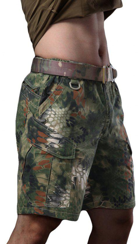 Outdoor Self-Cultivation Breathable Quick-Drying Fishing Sports Camouflage Pants - JUNGLE CAMOUFLAGE M