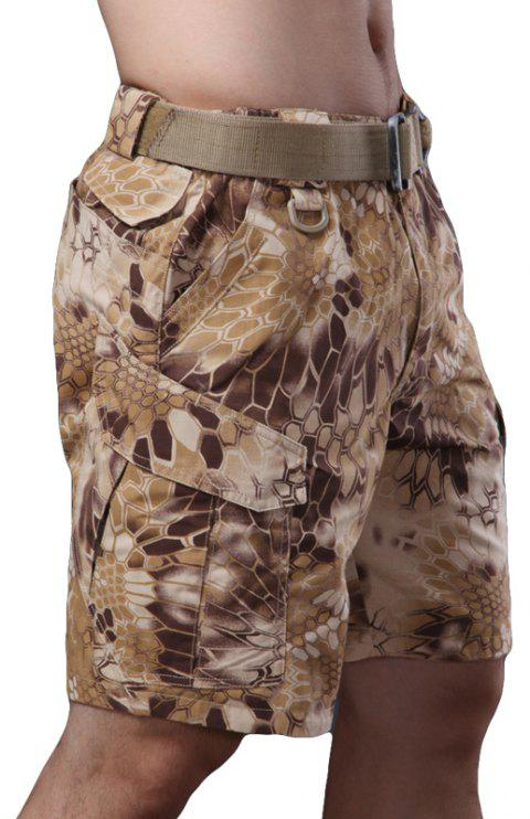 Outdoor Self-Cultivation Breathable Quick-Drying Fishing Sports Camouflage Pants - DESERT CAMOUFLAGE 2XL