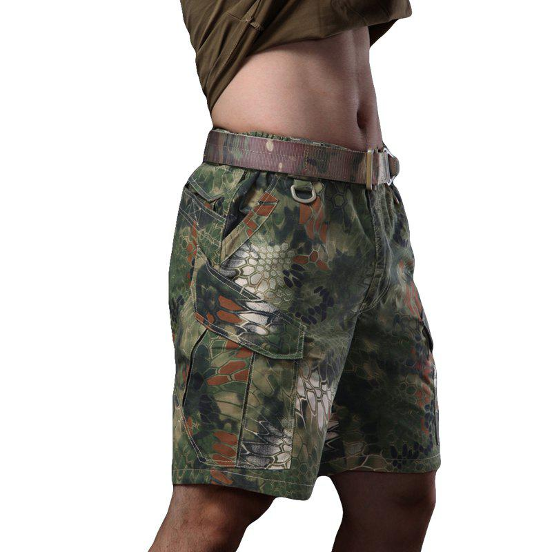 Outdoor Self-Cultivation Breathable Quick-Drying Fishing Sports Camouflage Pants - JUNGLE CAMOUFLAGE XL
