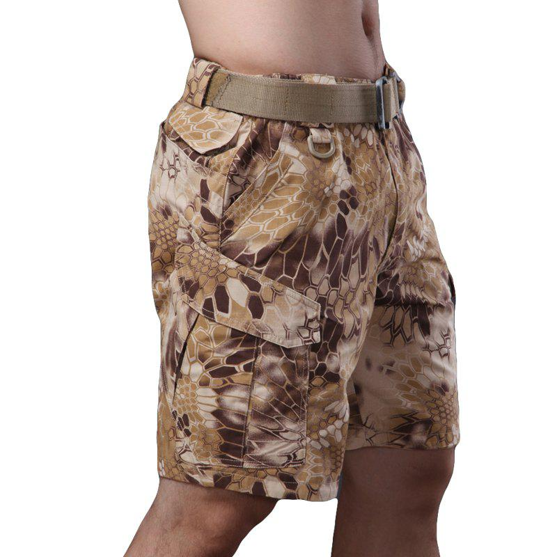 Outdoor Self-Cultivation Breathable Quick-Drying Fishing Sports Camouflage Pants - DESERT CAMOUFLAGE XL