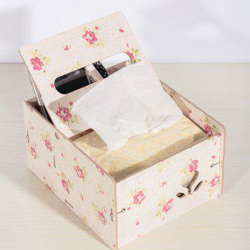 Wooden Multipurpose Storage Box Remote Control Paper Towels Home Living Room Coffee Table Creative Decoration - PINK