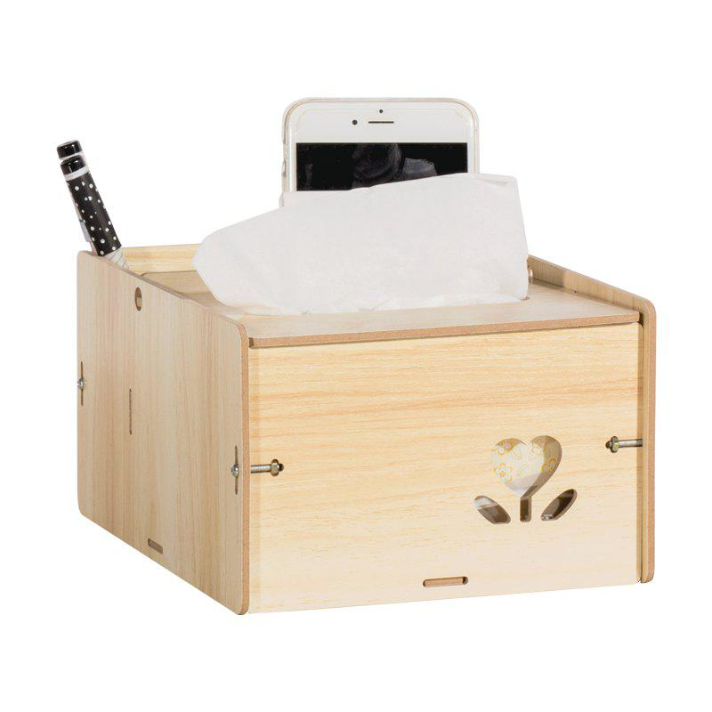 Wooden Multipurpose Storage Box Remote Control Paper Towels Home Living Room Coffee Table Creative Decoration - OAK