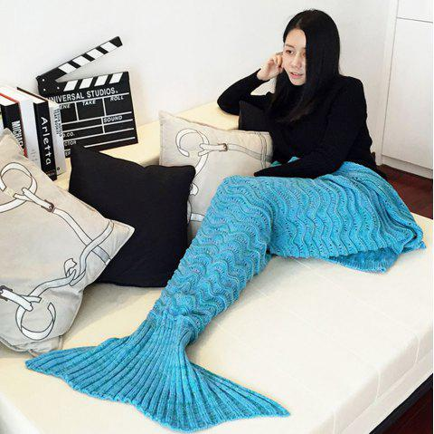 6a0a983b06d All Seasons Latest Warm Mermaid Blanket Tail Wave Striped Handmade  Crocheted Blankets Super Soft Sleeping Bag