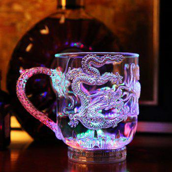 Colorful Luminous LED Induction Magic Cup Water Injection Induced Luminescence 285ml - TRANSPARENT