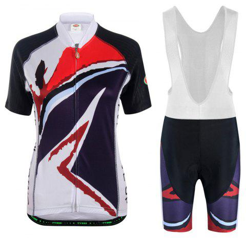 TVSSS Cycling Jersey Women Cycling Shorts MTB Shorts Cycling Sets - WHITE 4XL