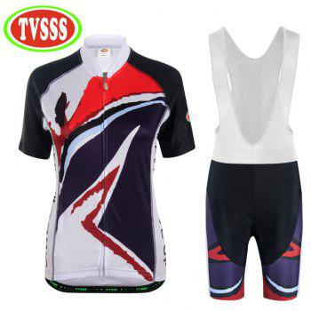 TVSSS Cycling Jersey Women Cycling Shorts MTB Shorts Cycling Sets - WHITE 3XL