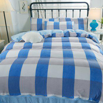 Washed Cotton Four-Piece Set Bedding - BLUE TWIN