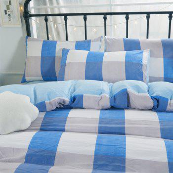Washed Cotton Four-Piece Set Bedding - BLUE FULL