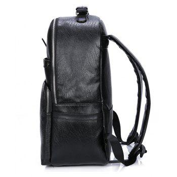 New Outdoor Travel Men's Computer Shoulder Knapsack - BLACK