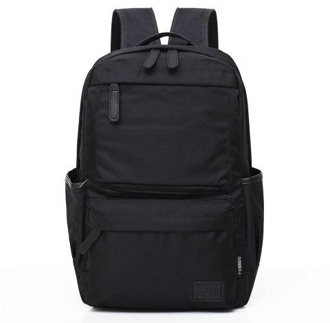 2018 New Men's Computer Double Shoulder Knapsack - BLACK
