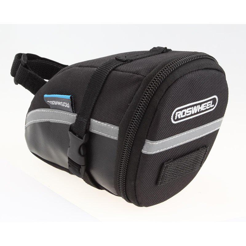 Roswheel  1.2L 13196 Bicycle Riding Tail Bag  Saddle Bag - BLACK