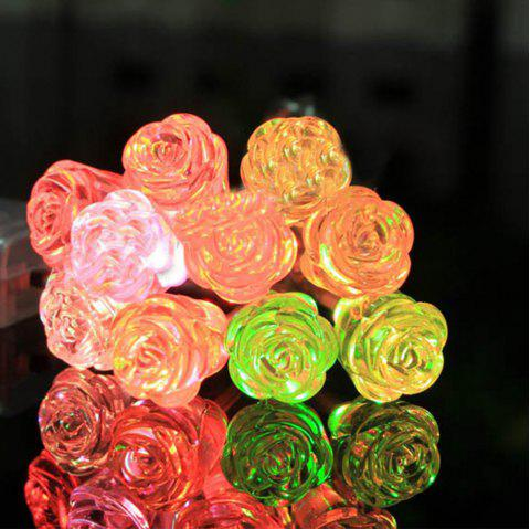 Colourful Rose String Lights Fairy LED Home Decor Light Home Garden of Battery Powered 1.65M 10 LED - RGB