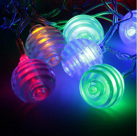 Transparent Multi Fold Ball String Lights Fairy LED Home Decor Light Home Garden of Battery Powered RGB 1.65M 10 LED - RGB