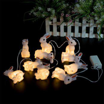 PVC Rabbit Lamp Party Light String Lights Fairy LED Home Decor Light Home Garden of Battery Powered 1.65M 10 LED - WARM WHITE