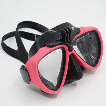 Face Plates Snorkeling Mask Anti-fogging Goggles 206 - RED