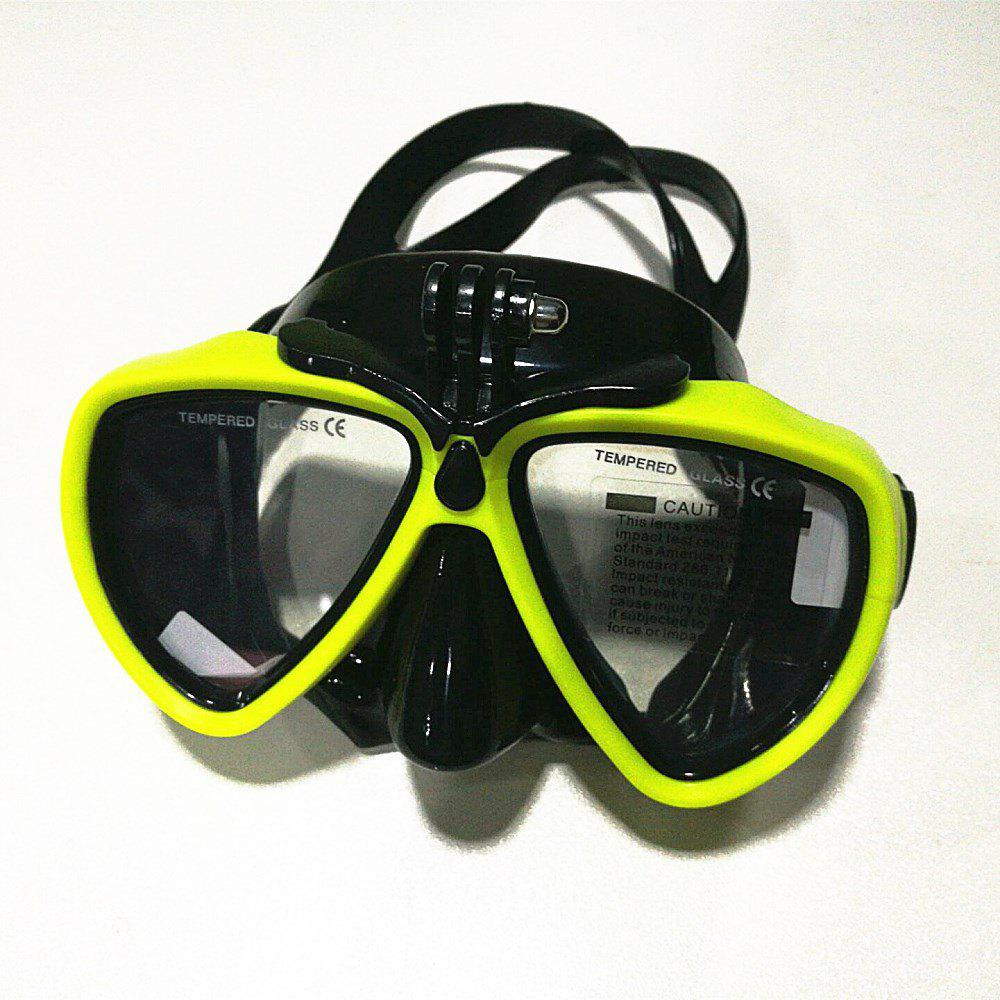 Face Plates Snorkeling Mask Anti-fogging Goggles 206 - YELLOW