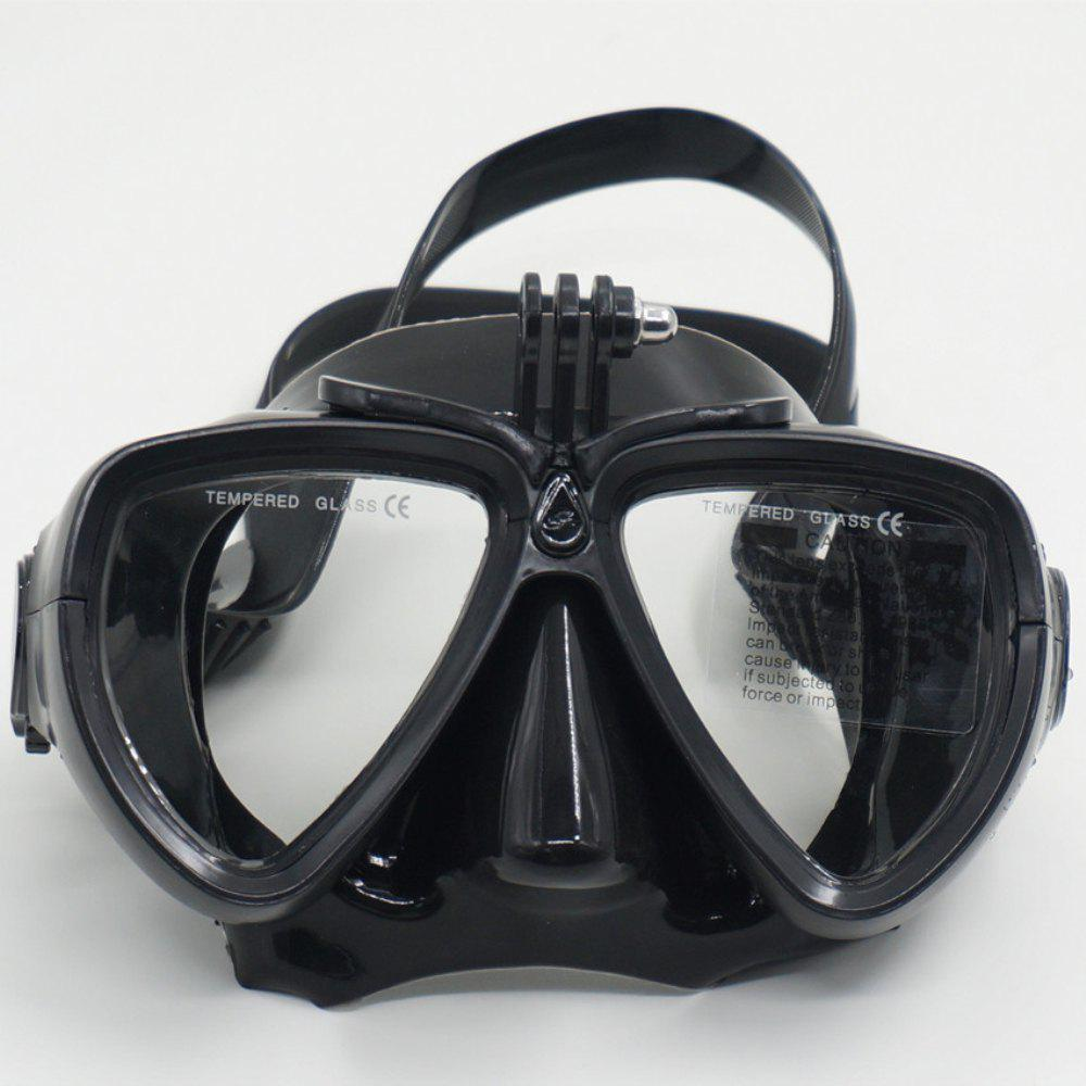 Face Plates Snorkeling Mask Anti-fogging Goggles 206 - BLACK