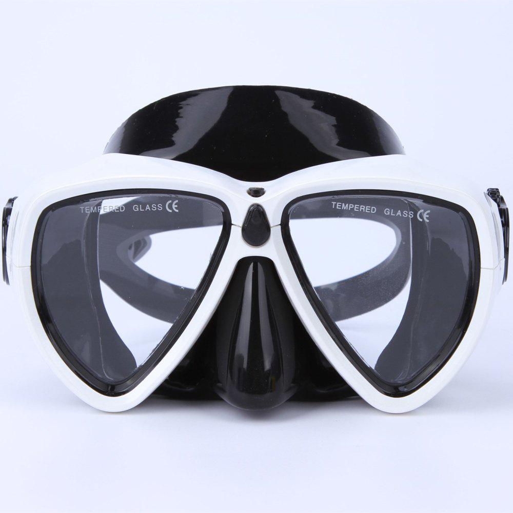 Face Plates Snorkeling Mask Anti-fogging Goggles 206 - WHITE