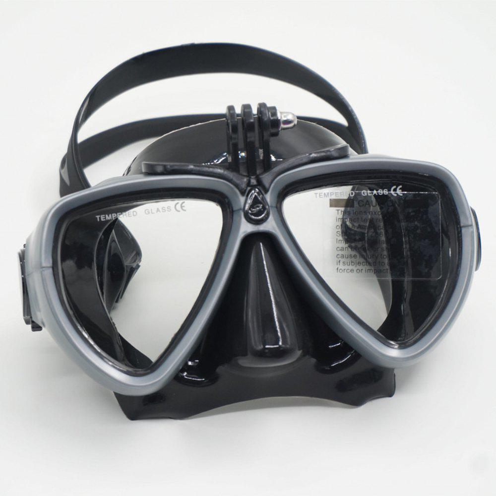 Face Plates Snorkeling Mask Anti-fogging Goggles 206 - GRAY