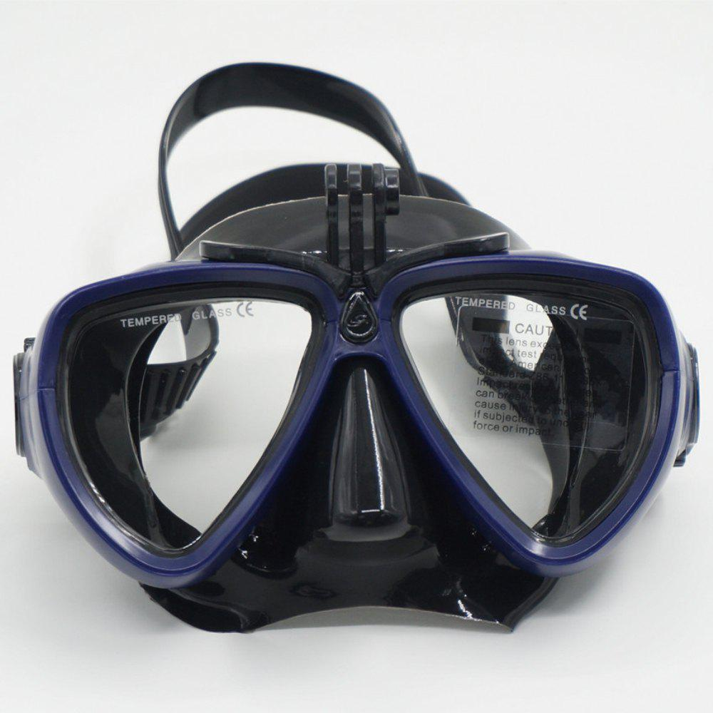 Face Plates Snorkeling Mask Anti-fogging Goggles 206 - BLUE