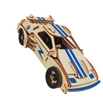 DIY Sports Car Style 3D Wooden Three-dimensional Puzzle Educational Toy - COLORMIX