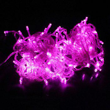 1PC Waterproof Outdoor Home 10M LED Fairy String Lights Christmas Party Wedding Holiday Decoration - PINK LIGHT