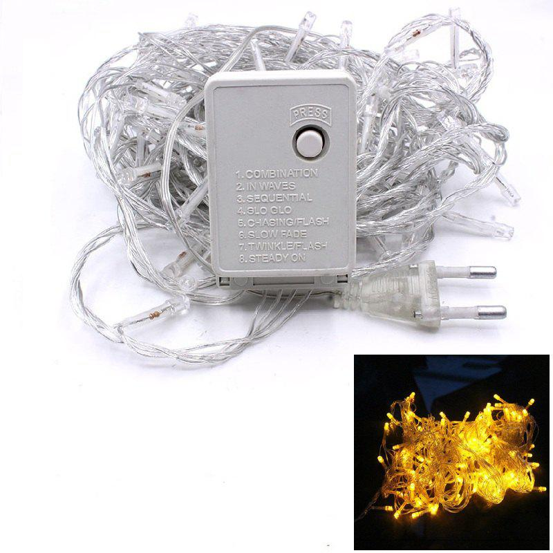 1PC Waterproof Outdoor Home 10M LED Fairy String Lights Christmas Party Wedding Holiday Decoration - YELLOW LIGHT