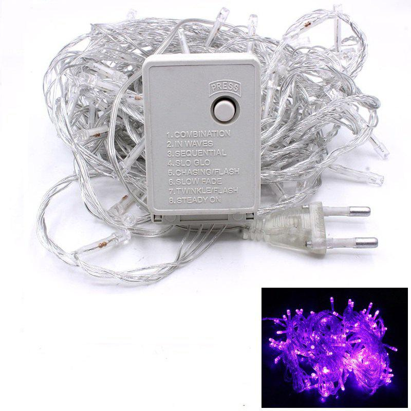 1PC Waterproof Outdoor Home 10M LED Fairy String Lights Christmas Party Wedding Holiday Decoration - PURPLE LIGHT
