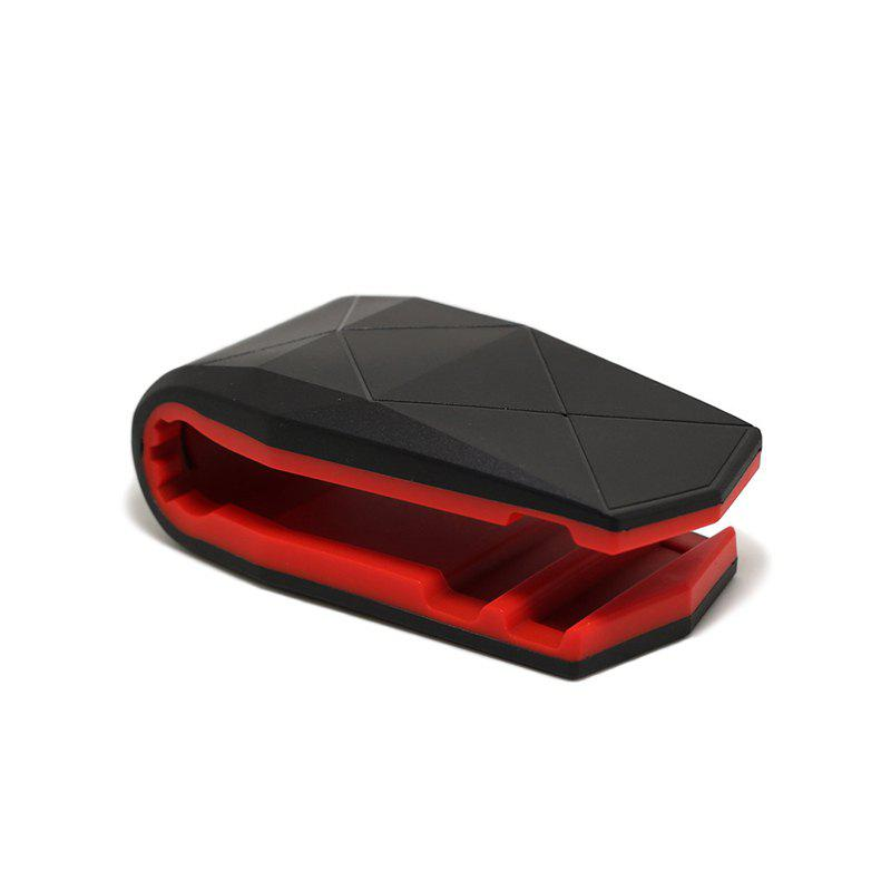 Crocodile Mouth Clip Creative Lazy Car Desktop Mobile Phone Bracket - RED