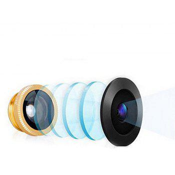 Minismile 3-in-1 Fish Eye and Wide Angle and Macro Phone Camera Lens for iPhone / Samsung / Xiaomi / HUAWEI - GOLD