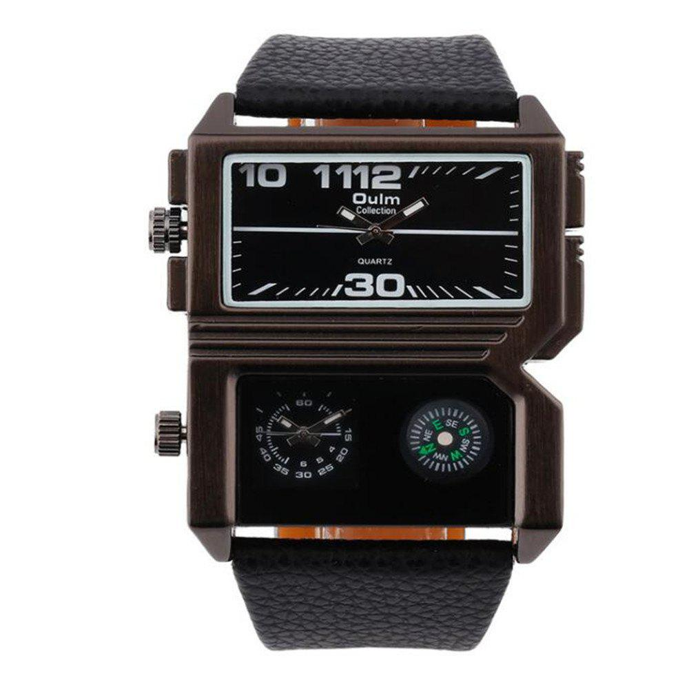 Fashionable Man Compass Watch - BLACK
