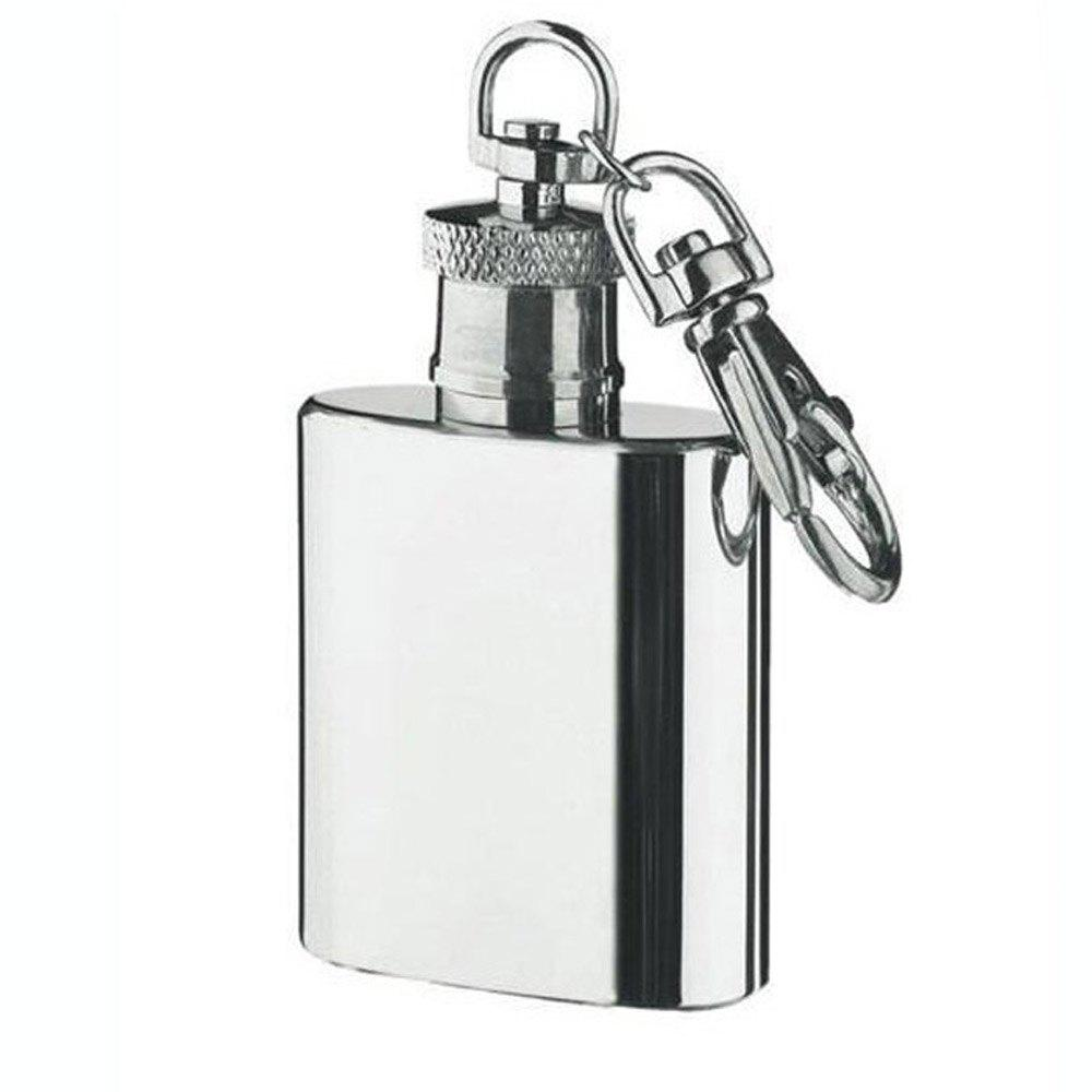 Mini Stainless Steel Flagon Keychain High Quality Silver - SILVER
